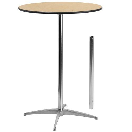 Merveilleux 30u0027u0027 Round Wood Highboy Table With 30u0027u0027 Or 42u0027u0027 Columns   Oak Lawn Party  Rentals