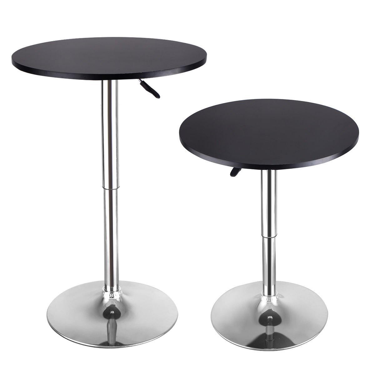 Tremendous Modern Round Bar Table Adjustable Wood Top Gmtry Best Dining Table And Chair Ideas Images Gmtryco