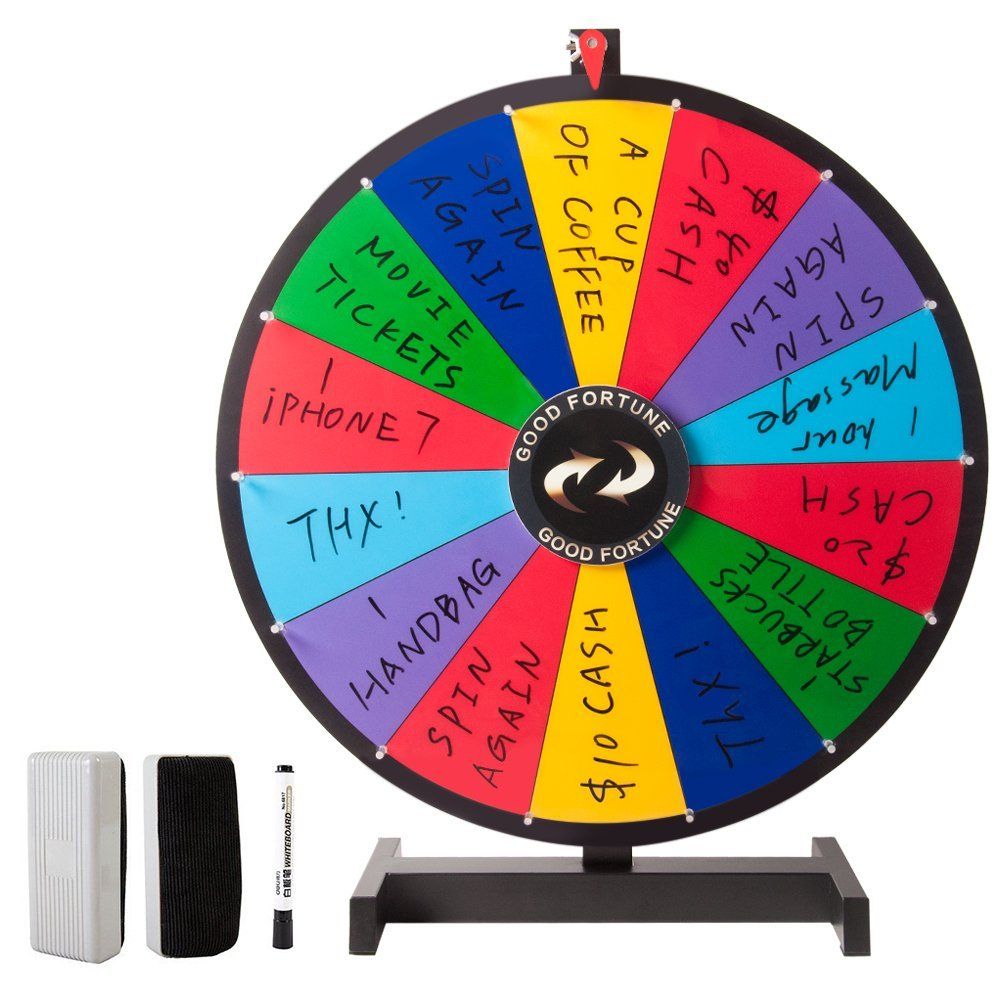 Tabletop Spinning Prize Wheel