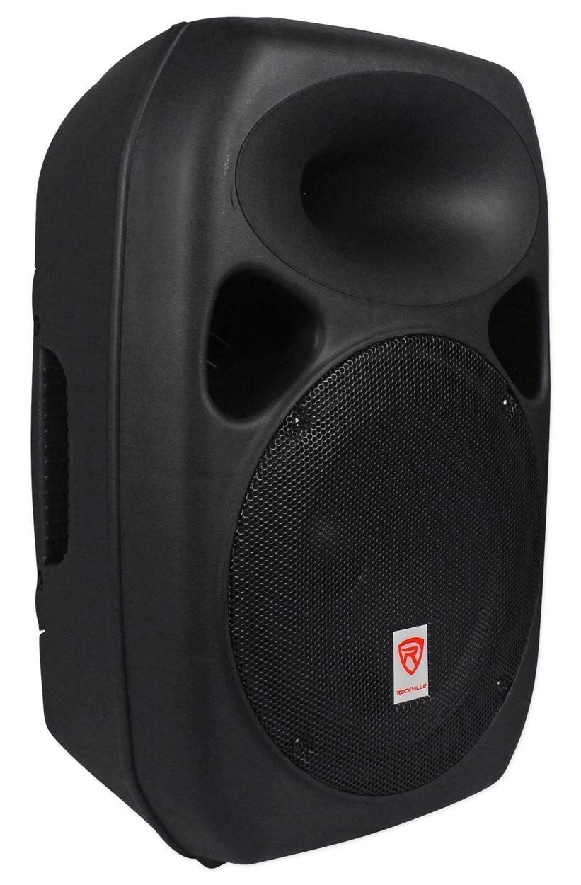Dj Speakers With Stands And Microphone Black Oak Lawn