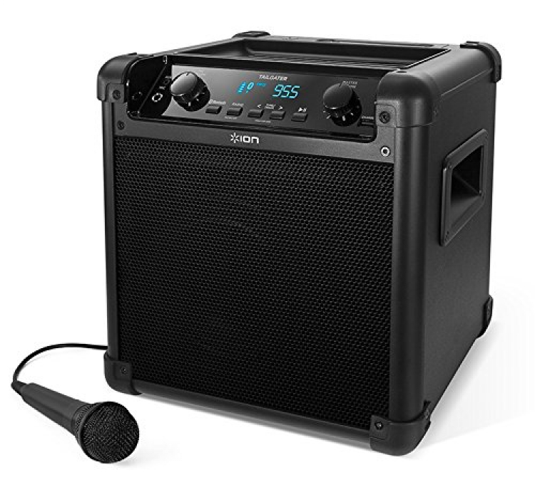Portable Bluetooth PA Speaker with Mic, AM/FM Radio, and USB