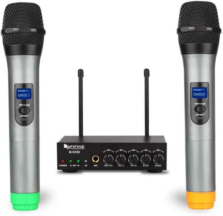UHF Dual Channel Wireless Handheld Microphone