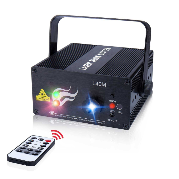 Laser Light 40 Patterns LED Projector Auto Sound active