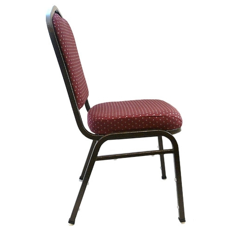 *Patterned Crown Back Banquet Chair / Red
