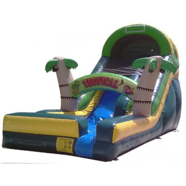 16′ Tropical Water Slide W/pool